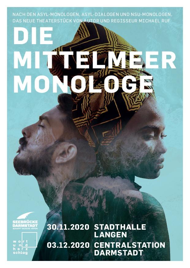 Flyer zu den Mittelmeer-Monologen